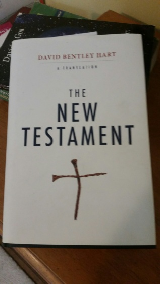 I am currently reading through the New Testament in this translation. Hart renders the Greek in all its glory and awkwardness.